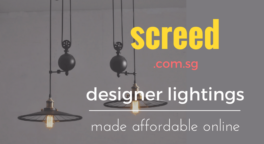 Screed Designer Lightings Online Singapore