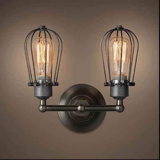 Klemon Metal Wire Cage Hanging Lamp