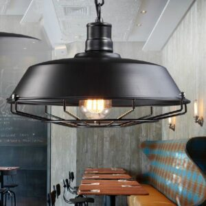 Pot Cover Web Caged Hanging Lamp - front