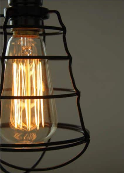 Vivi Basket Web Cage Single Bulb Hanging Light
