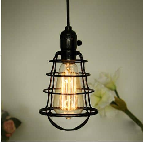 Vivi Basket Web Cage Single Bulb Hanging Light