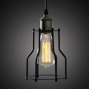 Werner Bird Cage Single Bulb Lamp- front view