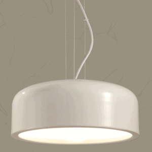 Contemporary Dome Shaped Lamp - front white (1)