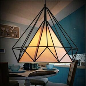 Pyramid Cage Hanging Lamp - front