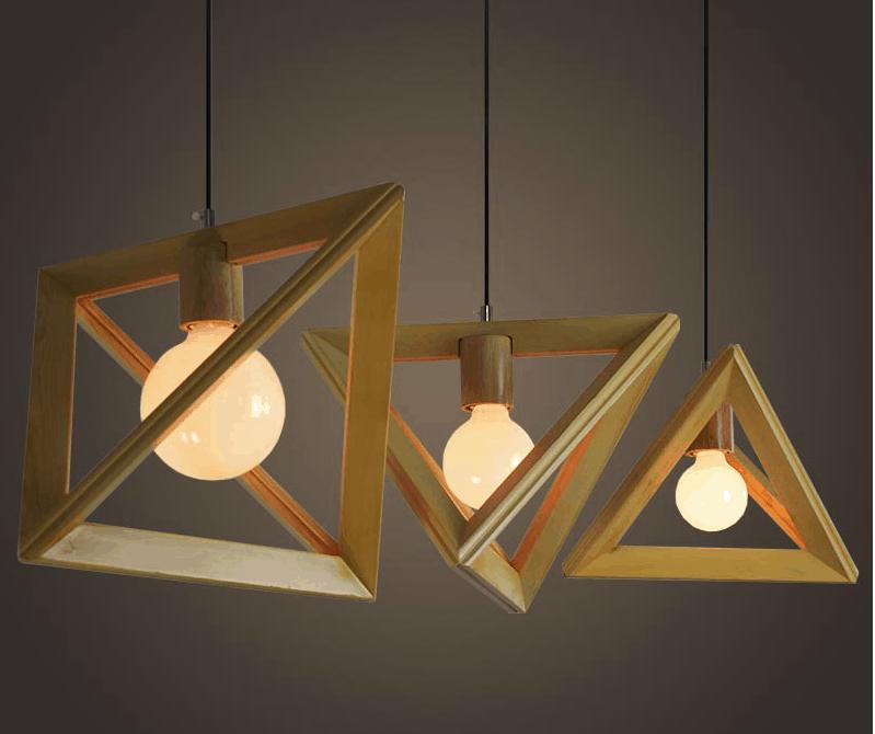 Lea Wooden Geometry Lamp