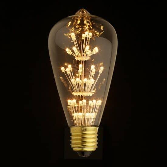 LED ST64 teardrop bulb Starry Night