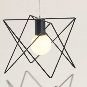 Triangular Cage Lamp _Single