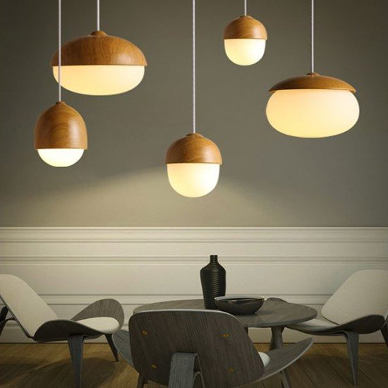 Acorn Hanging Lamp - lounge