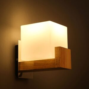 Candy Holder Wooden Hanging Lamp- side view