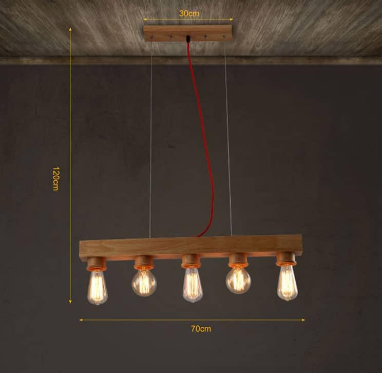 Erling classic wooden bar head lamp
