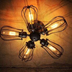 Five Leaflet Uranium Ceiling Fan Lamp - bottom view