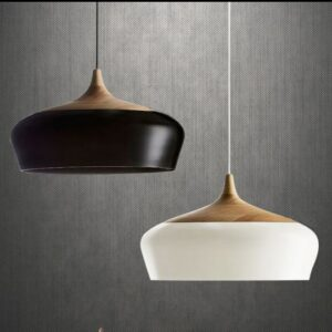 Modern Chestnut Lamp - black and white 3