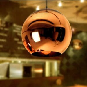 Ornamental Orb Lamp - rose gold