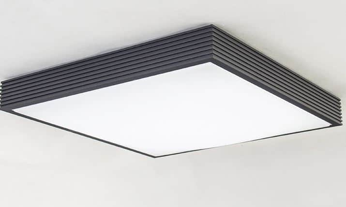 Kay ridged square case ceiling lamp ridge square case ceiling lamp black 2 mozeypictures Image collections