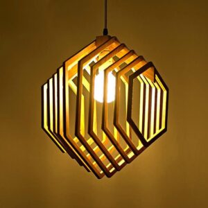 EVA Hexagonal Cage Encasement Lamp