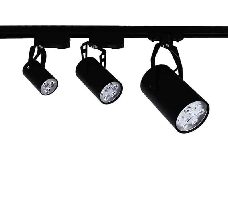 LED Tracklight Spotlight Pack (Includes 1m Track + 3 Tracklight Units)