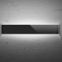 Sleek Band Wall Lamp-front black