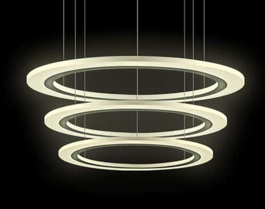 Alvar triple halo hanging lights triple halo hanging lights set of 3 1 aloadofball Choice Image
