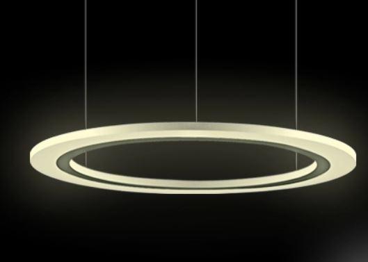 Triple Halo Hanging Lights Single 1