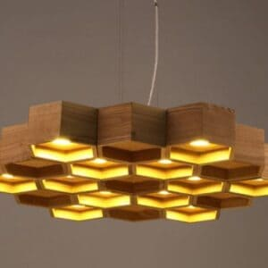 Honeycomb Hanging Lamp - front