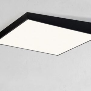 Squarely Inclined Ceiling Lamp- front black