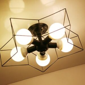Star Frame Ceiling Lamp - black on