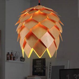 Tiki Pinecone Lamp - front
