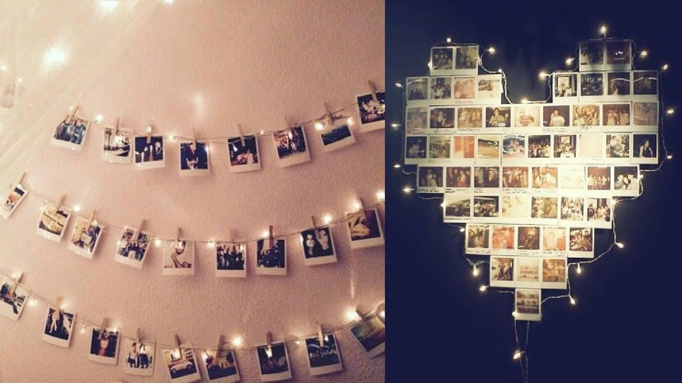Bedroom Picture Frames 10 Creative Ways To Use String Lights To Dress Up Your
