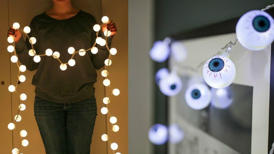 String Lights Ping Pong Balls Collage