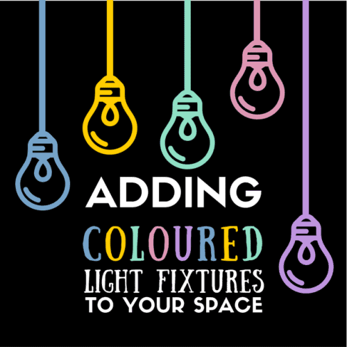 Adding Coloured Light Fixtures To Your Space
