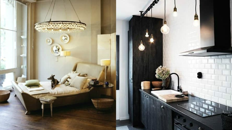 8 unbelievable ways to add statement lights to homes with low low ceiling low hanging lights collage aloadofball Gallery