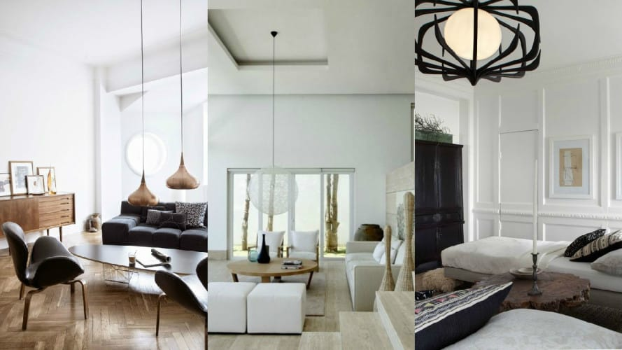 Pendant Lights Living Room Collage