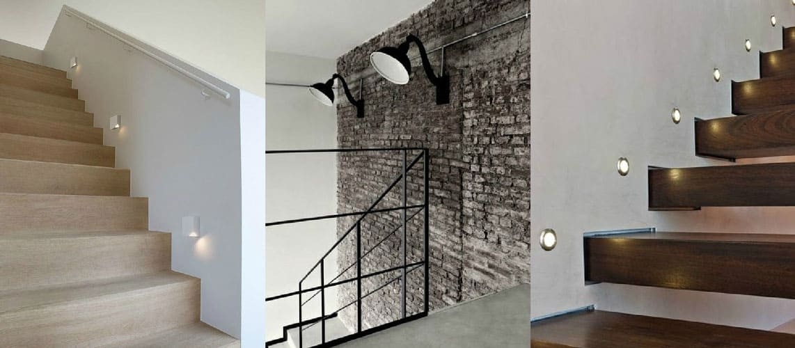 Stairs Wall Lights Collage