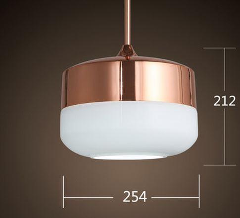 Elis Copper Top Hanging Lamp, Copper Mesh Lamp Shade
