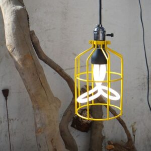 Mini Cage Frame Lamp- yellow