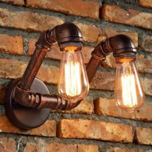 Twin Overhang wallpipe Lamp- side 2