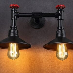 Twin Valve Wall Lamp-front
