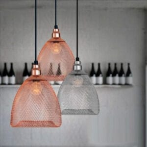 VENDELA Chainmail Mesh Hanging Lamp