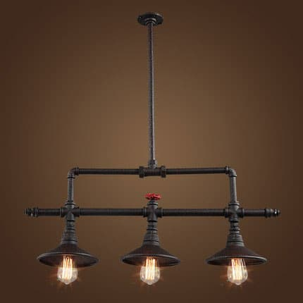 ville ceiling pipe industrial lamp