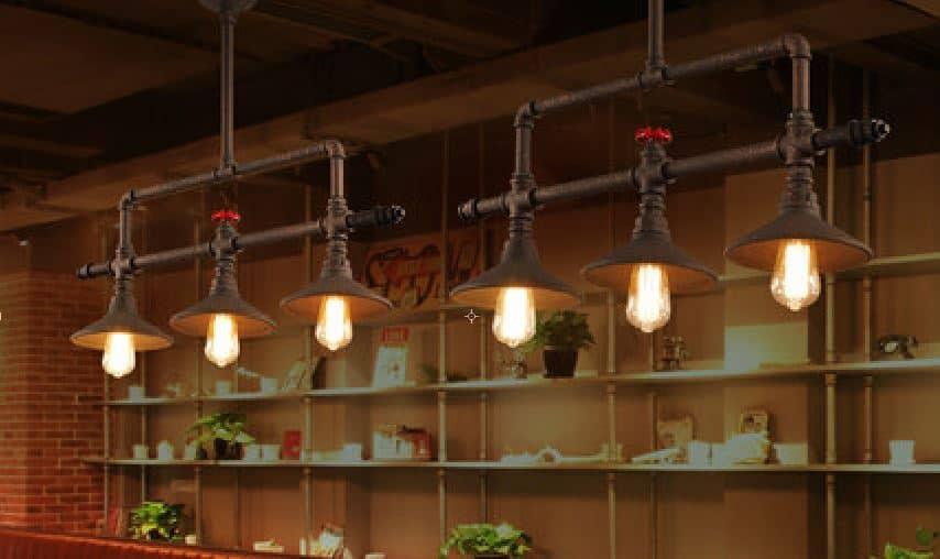 Ville Ceiling Pipe Industrial Lamp