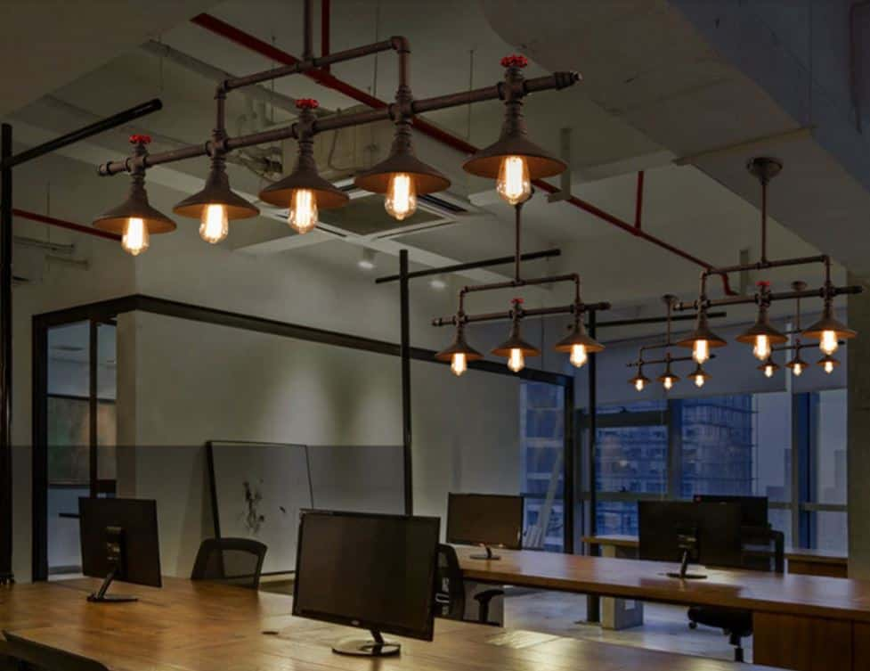 Industrial Design Ceiling Lights : Ville ceiling pipe industrial lamp