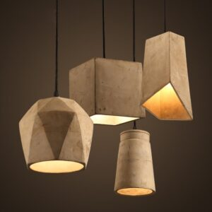 simple-cement-pendant-lamp-four-lights