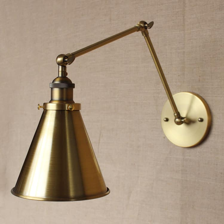 Wall Lamps Vintage : Bronberg Vintage Twin-arm Wall Lamp