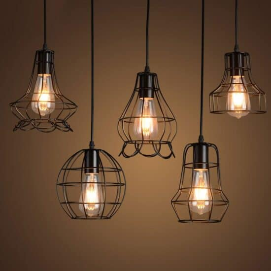Klemon-Wire-Cage-Pendant-Lights