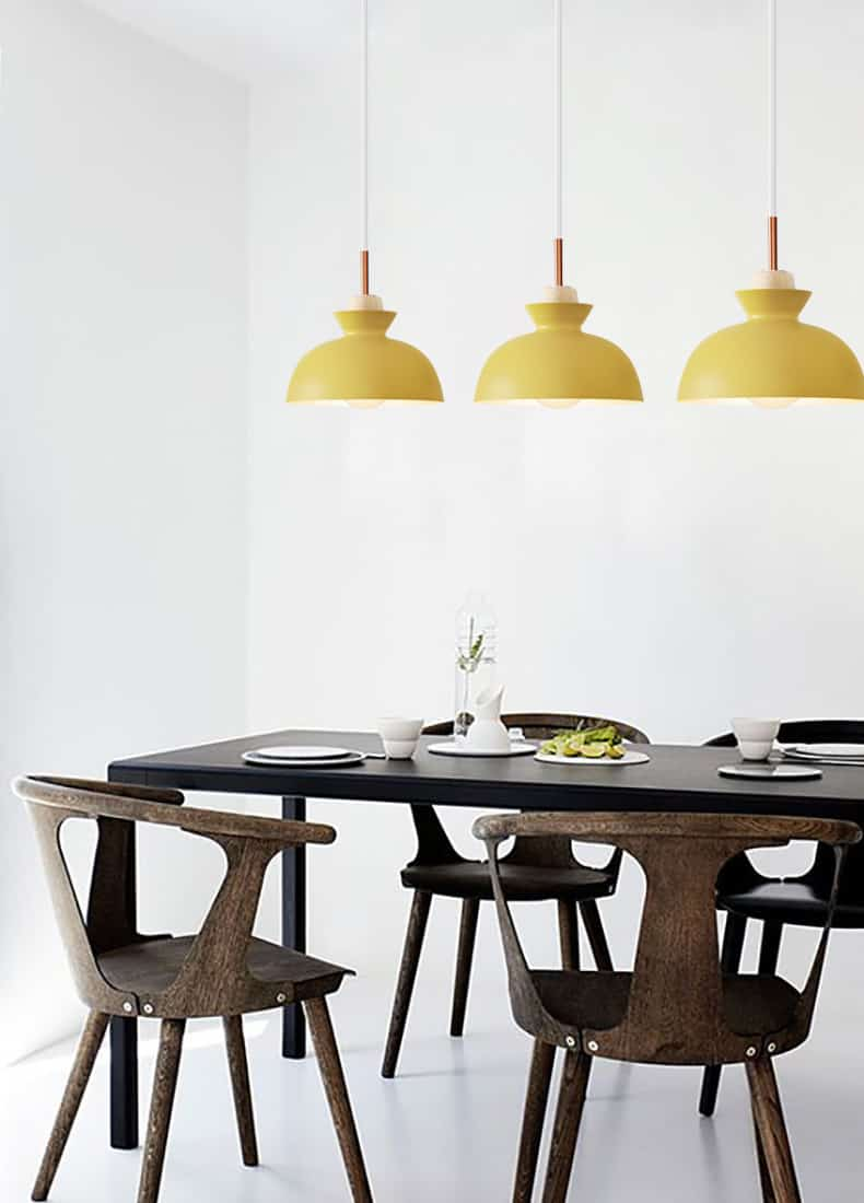 Designer Colourful Dining Room Lighting