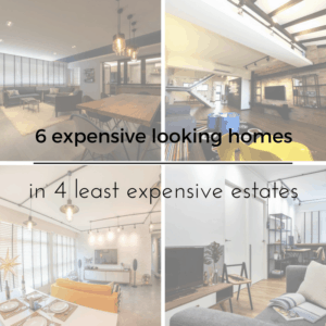 6expensive looking homes in 4 least expensive estates