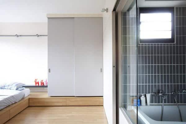 japanese minimalist platform bed
