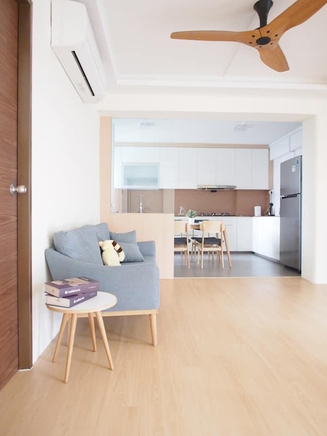 japanese minimalist sofa grey