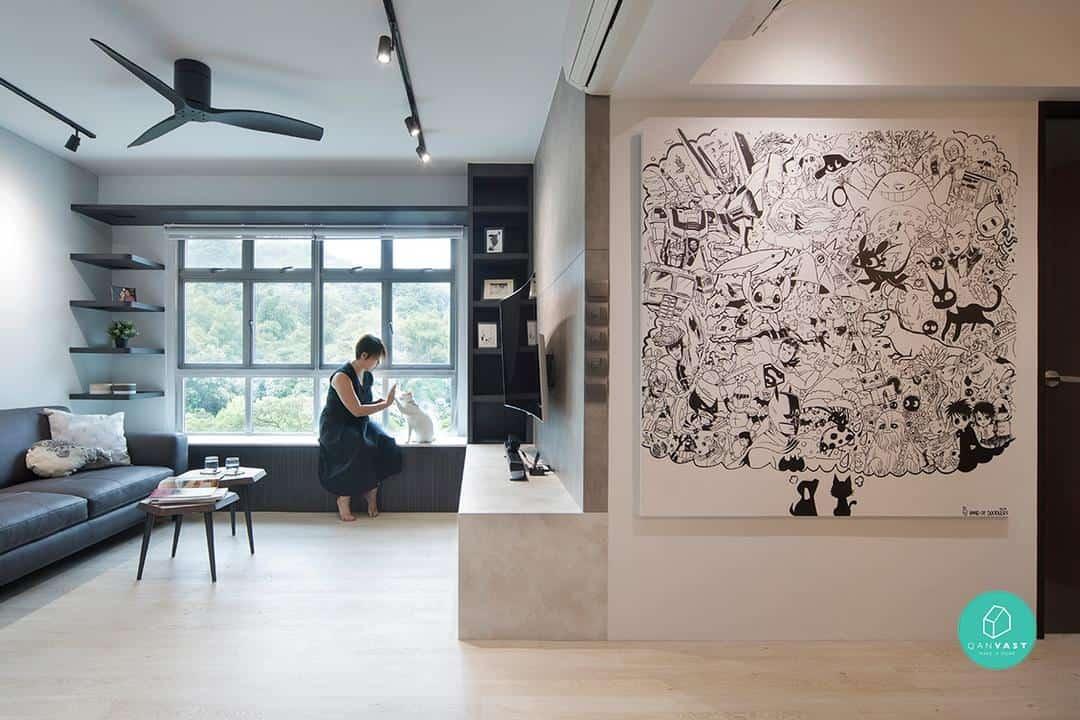 graphic design wall singapore interior design