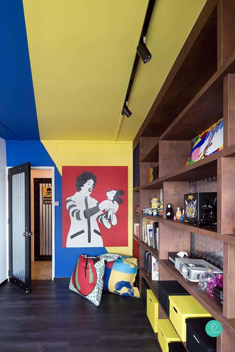 macdonalds visual graphic wall singapore